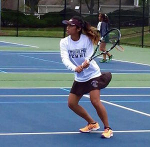 Girls Tennis Team captain, Jessica Pil '16, played first singles in the Somerset County Tournament and advanced to the finals on September 20.